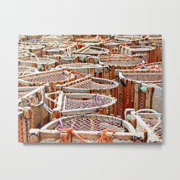 Traditional Lobster Traps Metal Print