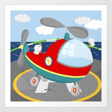 HELICOPTER (AERIAL VEHICLES) Art Print