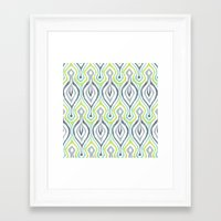 ikat Framed Art Prints featuring Sketchy IKAT by Patty Sloniger