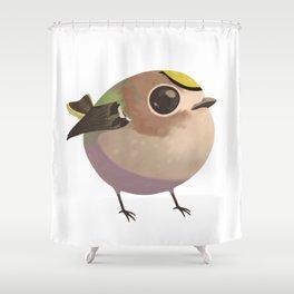 Tiny fat goldcrest Shower Curtain