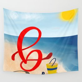 Baby B at the Beach Wall Tapestry