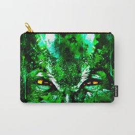 great horned owl bird close up wsuw Carry-All Pouch
