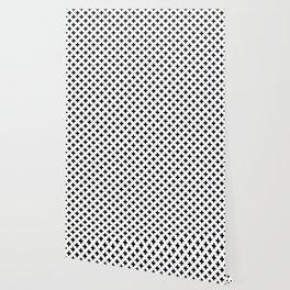 Black Crosses on White Wallpaper