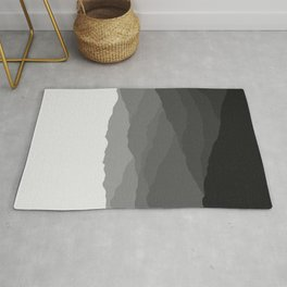 Shades of Grey Mountains Rug