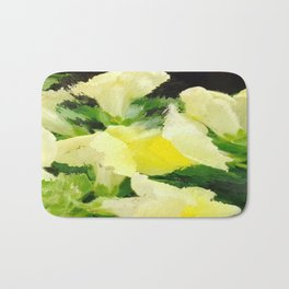 Yellow Snapdragons Flower Abstract Bath Mat