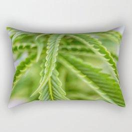 Weed Love 420 Marijuana plant photograph Rectangular Pillow