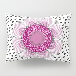 Pinky flower Pillow Sham