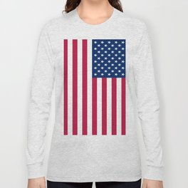 Flag of USA - American flag, flag of america, america, the stars and stripes,us, united states Long Sleeve T-shirt