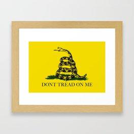 "Gadsden ""Don't Tread On Me"" Flag, High Quality image Framed Art Print"
