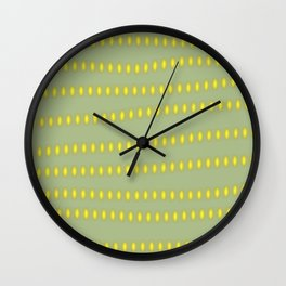 Lights are on Green is Home Wall Clock