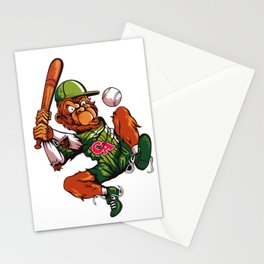 Baseball Monkey - Limerick Stationery Cards