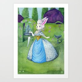 Lady Lucy in the Garden Art Print