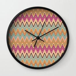Seamless chevron zigzag pattern geometrical background Wall Clock