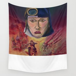 """""""Red Sisters"""" Book Cover Wall Tapestry"""