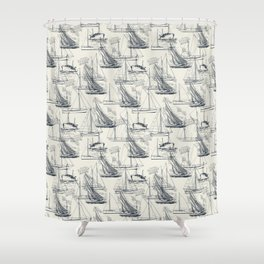 sailing the seas mode Shower Curtain