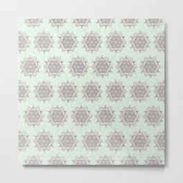 Mandalas in Green Water Metal Print