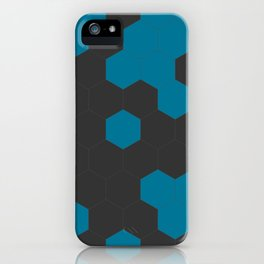 Hex Teal iPhone Case