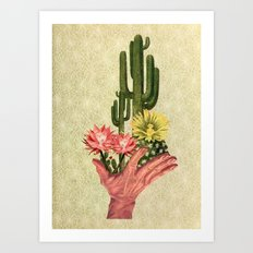 Cactus Handup Art Print