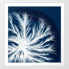 Mycelium in a petri dish Art Print