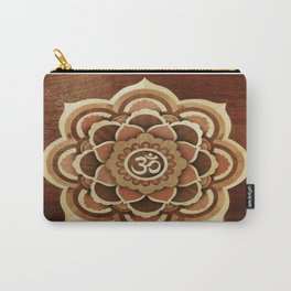 Buddha mandala wood marquetry Carry-All Pouch