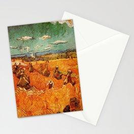 Van Gogh, millstones  – Van Gogh,Vincent Van Gogh,impressionist,post-impressionism,brushwork,paintin Stationery Cards