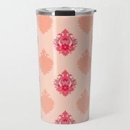 Shah-Abbasi Flower Pattern (Pink) Travel Mug