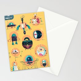 :::Mini Robots::: Stationery Cards