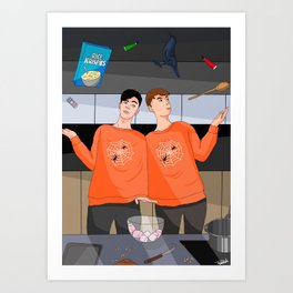 Dan & Phil Halloween Baking 2017 - Digital Art Print