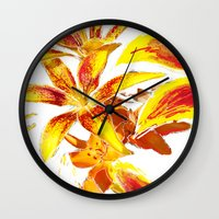lily Wall Clocks featuring Lily by ANoelleJay