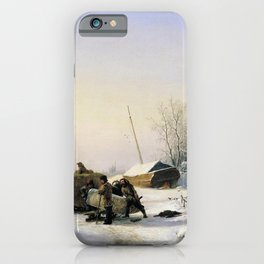 Transportation Of Ice 1849 By Lev Lagorio   Reproduction   Russian Romanticism Painter iPhone Case