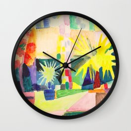 "August Macke ""Garten am Thuner See (Garden on Lake Thun)"" (I) Wall Clock"