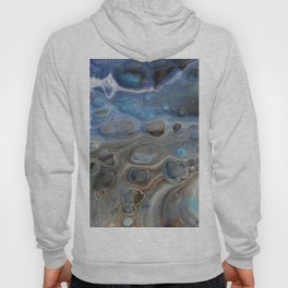 Fluid Nature - Water and Mercury - Abstract Acrylic Pour Art Hoody