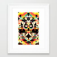 high Framed Art Prints featuring Flying High by Muxxi