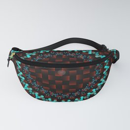 BUTTONS, WEAVES, BLOCKS & WAVES CIRCLE PATTERN Fanny Pack