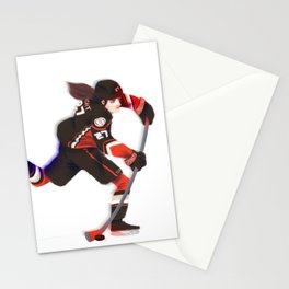 Hilary Knight as a Ducks player Stationery Cards