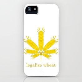Legalize Wheat iPhone Case