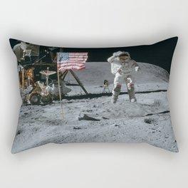 Apollo 16 - Astronaut Moon Jump Rectangular Pillow