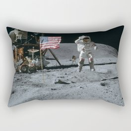 Apollo 16 - Astronaut Moon Jump Rectangular Pillow