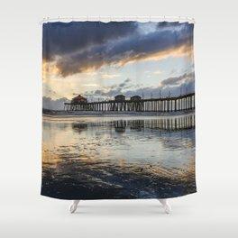 Huntington Beach Pier Sunset   12-19-13 Shower Curtain