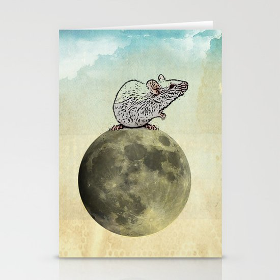 Tiny and the Cheese Moon Stationery Cards