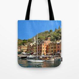 Colorful Fishing Village Tote Bag