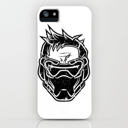Over Watch Soldier: 76 (Black) iPhone Case