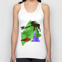 maine Tank Tops featuring Maine by Nova Jarvis