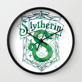 Slytherin Crest Wall Clock