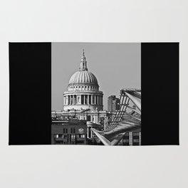 Millenium Bridge & St Pauls Catherderal. London. Rug
