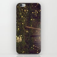 fireflies iPhone & iPod Skins featuring Fireflies by Maureen Anne