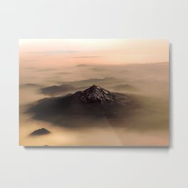 The West is Burning - Mt Shasta - nature photography Metal Print