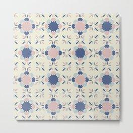 Pastel Tile Metal Print