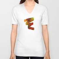 labyrinth V-neck T-shirts featuring Labyrinth by Chicca Besso