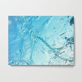 Bubble Trail Underwater Photo Metal Print